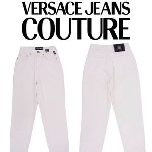 Versace jean couture white high rise jeans 💕